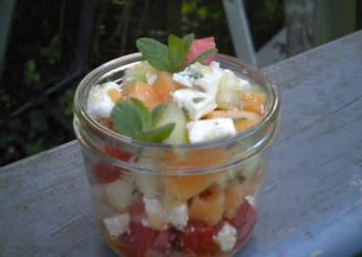 Salade de melon à la feta